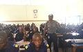 La Police Monusco forme près de 100 élèves Commissaires de la PNC sur la Psychologie du Commandement