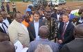 Le vice-premier ministre en charge des transports visite les travaux sur la piste de l'aéroport de Mavivi, financés par la MONUSCO
