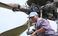 JOY MMOTONG, au service de la paix et des hélicoptères