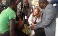 La Princesse Jordanienne Sarah Zeid au chevet des femmes et enfants déplacés du Tanganyika