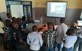 La Police de la MONUSCO forme des policiers congolais sur les techniques de renseignement