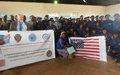 La MONUSCO  contribue au renforcement des capacités de la police des mines du Haut Katanga