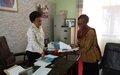 UN75: La Charte des Nations Unies au cœur d'échanges entre la Maire de Kalemie et une équipe de la MONUSCO
