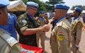 Kinshasa : 387 officiers de la police MONUSCO décorés de la médaille des Nations Unies