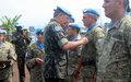The Uruguayan Battalion IV has been recipients of the UN Medals
