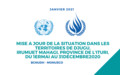 Mise à jour sur la situation dans les territoires de Djugu, Irumuet Mahagi, province de l'Ituri, du 1er mai au 31 décembre 2020