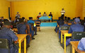 Uvira : La police MONUSCO forme des éléments de la PNC au maintien de l'ordre public