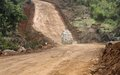 MONUSCO rehabilitates major road in Beni to facilitate troops' and local populations' mobility.