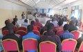 La MONUSCO initie un 2ème dialogue citoyen entre les autorités et les populations du Tanganyika