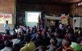 Les détenus de la prison centrale de Beni sensibilisés par la MONUSCO sur la maladie à Virus Ebola