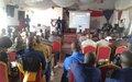 La MONUSCO sensibilise la Police nationale congolaise  sur les normes du maintien de l'ordre public