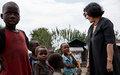 Leïla Zerrougui à Goma pour la journée internationale des droits de l'enfant