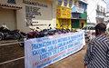 La MONUSCO s'implique dans une sensibilisation des conducteurs de taxi-moto