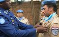 140 éléments de l'Unité de police constituée de l'Egypte décorés de la médaille des Nations Unies