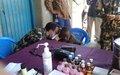 Les militaires de la MONUSCO sensibilisent les élèves de Rwampara à la prévention du cholera