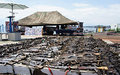 MONUSCO's Martin Kobler witnesses the destruction of weapons in Goma