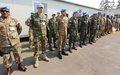 Une cérémonie de remise des médailles des Nations Unies à Goma