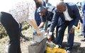 Pose de la première pierre du Centre de Formation de la Police nationale congolaise