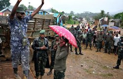 Wanted for crimes against humanity, the rebel Sheka surrendered to MONUSCO today in North Kivu