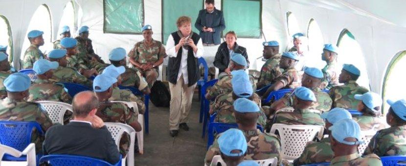 RDC : Jane Holl Lute en visite dans le pays suite à des allégations d'abus sexuels par des Casques bleus